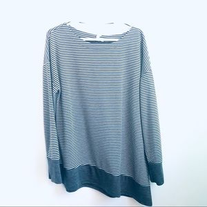 Cable & Gauge Asymmetric Striped Sweater